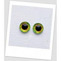 Глазки стеклянные для кукол и игрушек (пара), 12 мм