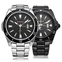 Мужские наручные часы Curren 8110 + подарочная упаковка, кварцевый механизм, отбражение даты