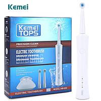 Аккумуляторная электрическая зубная щетка Kemei KM 908, фото 1