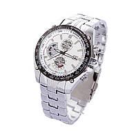 Мужские наручные часы кварцевый механизм Curren 8083, влагостойкие, стальной ремешок