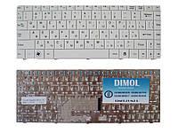 Оригинальная клавиатура для ноутбука MSI EX460, CR400, X300, X320, X340, X400, X410, X430, U200, U250 white
