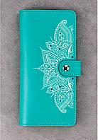 Кошелёк BlankNote BN-PM-7-tiffany-art кожаный Голубой