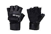 Кожанные перчатки Hop-Sport для дома и спортзала, Львов