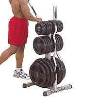 Универсальная стойка под диски и грифы Body-Solid Olympic Plate Tree Bar Holder для дома и спортзала