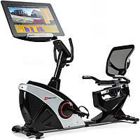 Горизонтальный велотренажер Hop-Sport HS-070L Helix iConsole+ silver для дома и спортзала с доставкой
