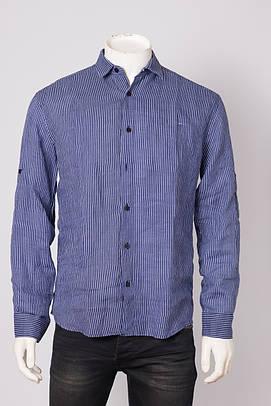 Рубашка мужская ANOTHER ZAGATO 3074 NAVY STR