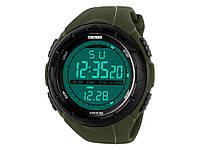Водонепроникні спортивні годинник Skmei 1025 з LED підсвічуванням  Зелений