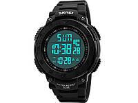 Спортивні годинник з крокоміром і LED-підсвіткою SKMEI  Чорний