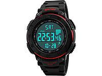 Спортивні годинник з крокоміром і LED-підсвіткою SKMEI  Червоний