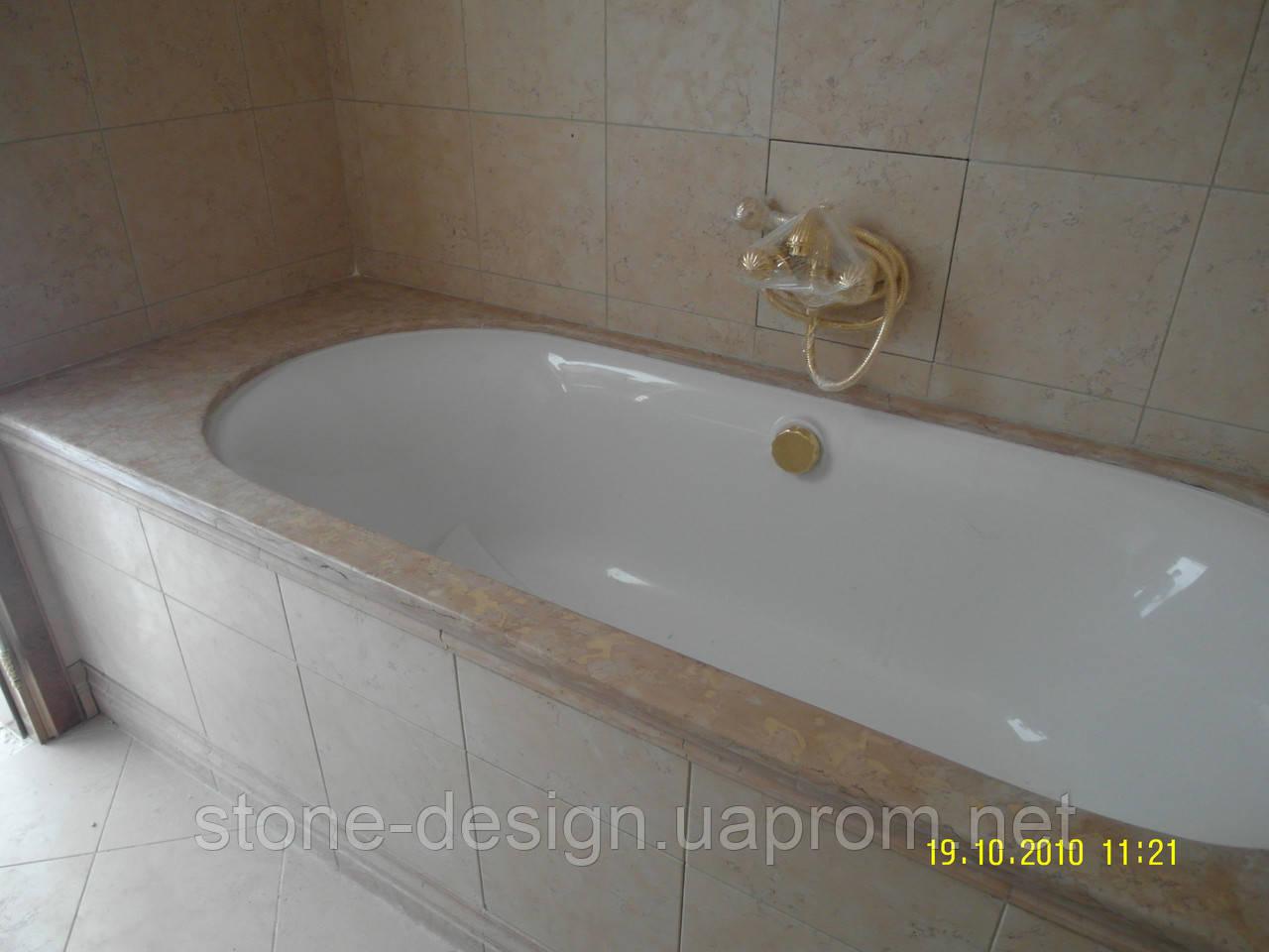 Столешница в ванную комнату из натурального камня 2 - STONE DESIGN в Киеве