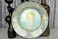 """Сувенирная тарелка """"Ангел""""."""