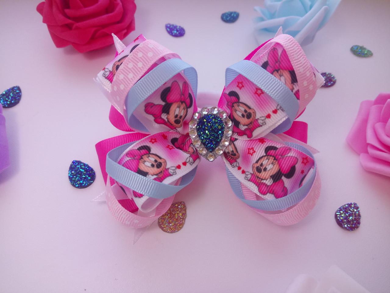 Бантики  для волос ручной работы Mickey Mouse