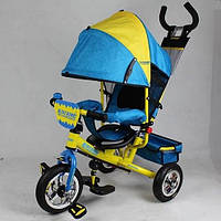 Детский трехколесный велосипед Profi Trike M5361-01 UKR (надувные колеса)