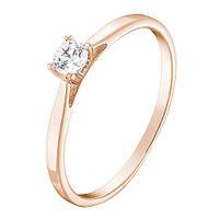 Золотое помолвочное кольцо Эмилия с бриллиантом 15.5 000061561