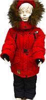 """Зимняя куртка детская для девочек """"Красная"""""""
