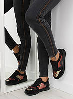 03-12 Черные спортивные женские кроссовки LH10P 41,40,39,38,36,37
