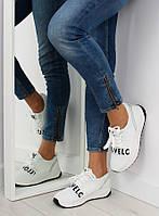 03-12 Белые спортивные женские кроссовки NB155P 39,36,37,38,40,41