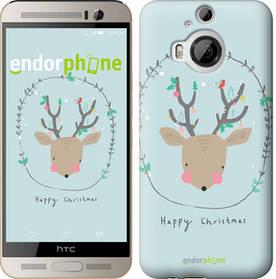 "Чехол на HTC One M9 Plus Happy Christmas ""4185u-134-450"""