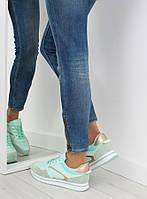 03-12 Мятные спортивные женские кроссовки NB158 41,40,39,38,37
