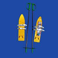 Лыжи с палками marmat детские пластиковые 40см