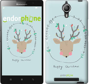 "Чехол на Lenovo P90 Happy Christmas ""4185u-234-450"""