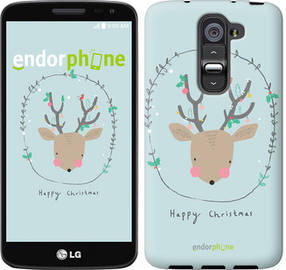 "Чехол на LG G2 mini D618 Happy Christmas ""4185u-304-450"""
