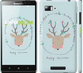 """Чехол на Lenovo Vibe Z K910 Happy Christmas """"4185c-85-450"""""""
