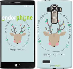 "Чехол на LG G4 H815 Happy Christmas ""4185u-118-450"""