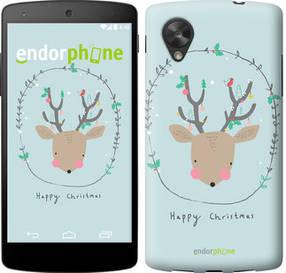 """Чехол на LG Nexus 5 Happy Christmas """"4185c-57-450"""""""