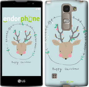 "Чехол на LG Spirit Dual H422 Happy Christmas ""4185u-245-450"""