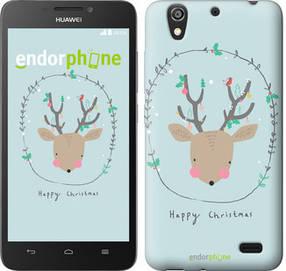 "Чехол на Huawei Ascend G630 Happy Christmas ""4185u-137-450"""