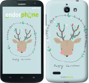 "Чехол на Huawei G730 Happy Christmas ""4185u-369-450"""