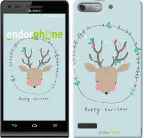 "Чехол на Huawei Ascend G6 Happy Christmas ""4185u-367-450"""
