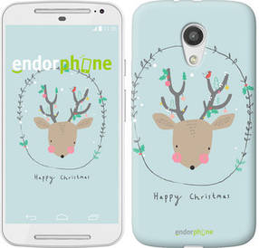 "Чехол на Motorola Moto G2 Happy Christmas ""4185u-330-450"""