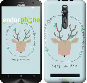 """Чехол на Asus Zenfone 2 ZE551ML Happy Christmas """"4185c-122-450"""""""