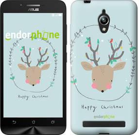 """Чехол на Asus Zenfone Go ZC500TG Happy Christmas """"4185c-160-450"""""""