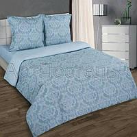 Ткань для постельного белья, поплин (хлопок) Византия серая компаньон (однотонный серый)
