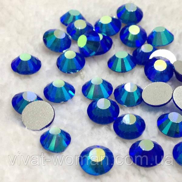 Стразы Sapphire AB SS6 холодной фиксации. Цена за 144 шт