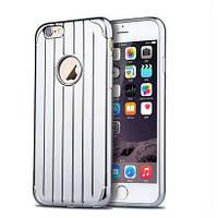 Чехол силиконовый Joyroom Samsonite с заглушками для iPhone 6/6s Silver