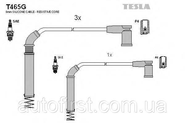 Комплект проводів запалювання Tesla T465G для Ford