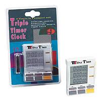 Таймер кухонный трехлинейный цифровой 8,6х6,5х2,2 см. Triple Timer