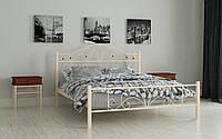 Кровать Элиз 90х190 см Металлическая кровать односпальная Мадера, Доставка 250грн по Украине