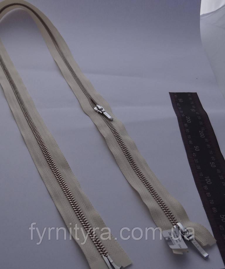 Металл YKK 100cm 801 молочная 2 бег №5 никель
