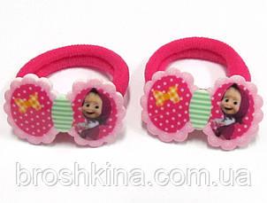 Детские резиночки для волос Машенька малиновые