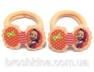 Детские резиночки для волос Машенька бежевые