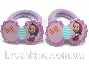 Детские резиночки для волос Машенька сиреневые