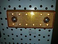 Габаритные огни для грузовиков желтые 12V LED прямые, Фонарь габаритный прицепа, габариты