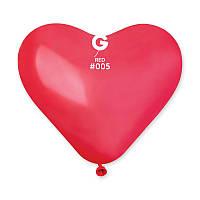 """Воздушные шары сердца Gemar пастель красный 10"""" 25 см"""