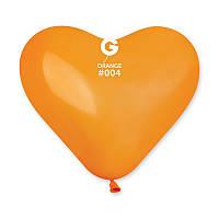 """Воздушные шары сердца Gemar пастель оранжевый 10"""" 25 см"""
