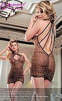 Платье леопардовое с трусиками